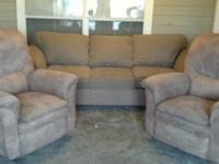 2 Lazy Boy recliners and sofa for sale. Both are a
