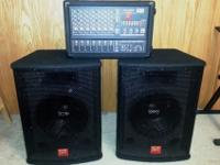 This includes a 200 watt powered mixer (PMX200R) and