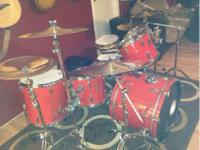 I have forsale a nice older set of maple drums very