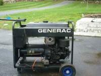 5000 watt Genrac generator- electric start with wheel