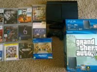 Selling my 6 month old GTA5 version 500G PS3. The PS3