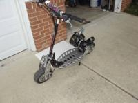 Selling my son's 2-cycle 2-speed gas scooter. Oil-Gas