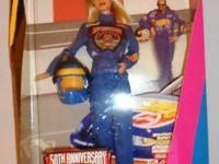 50th Anniversary Nascar 1998 Barbie Doll - $7.  Add the