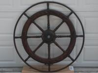Antique ships wheel in very good condition. These are