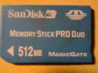 Memory card 512mb for psp serious text please
