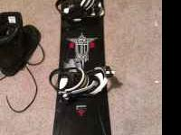 I am selling my 5150 snowboard with bindings and a pair