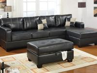 A sharp and sleek 2-piece sectional sofa is the
