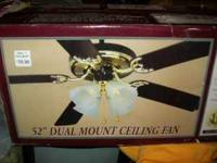 "52"" DUAL MOUNT CELING FAN FOR SALE BRAND NEW IN BOX"