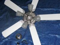 "52"" ceiling fan with all fittings and electrical"