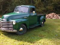 1952 Chevy 3100 pickup Titles as 53 but was built in