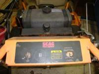 52 Scag Hydro walk behind lawn mower, 16 hp twin