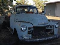Chevy flat bed I beleave it to be a 53 fair condition