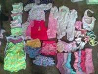 I have a 53 piece lot of baby girl clothes sizes 0-6