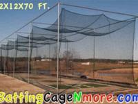#30 batting cage netting 12 ft. x 12 ft. x 40 ft.