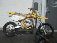 1992 SUZUKI RM-80, Yellow, www.roadtrackandtrail.com we