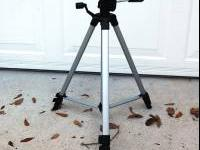 54 Inches Tall Video-Camera Tripod Like New Condition.