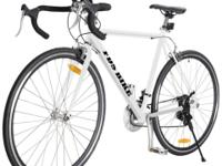 This New White Aluminum Road Bike is ideal and perfect