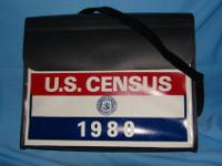 This one of a kind 1980 U.S. Census Taker's Bag was