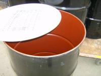 Open top Steel Drums with Lids. Like new in side. Good