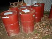 I have eleven 55 gallon metal drums for sale. 10.00