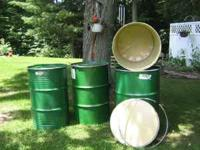 Clean, metal barrels. Contact me at: 1-. Location: