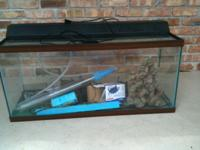 55 gallon fish tank for sale with all accessories. $75