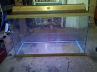 We have a 55 gallon fish tank with canopy top and