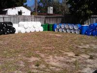 Plastic and metal food grade quality barrels in