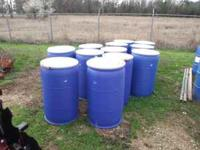 55 gallon plastic food grade barrels with lids for