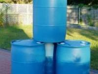 55 gallon plastic drums / trash cans... I have