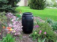 55 Gallon Rain Barrels made from food grade