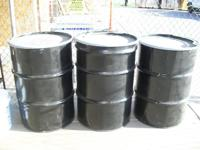 I HAVE THREE LIKE NEW 55 GALLON BARRELS THAT FEATURE A