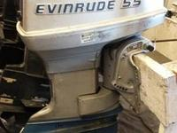 "1976 55hp Evinrude RARE 15"" model. Never made use of in"