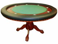 "Round 55"" x 30"" texas hold'em table with a Cherry"