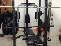 This is a Fitness Gear home gym. It has been used maybe