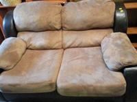 Leather,micofiber couch and loveseat ,no rip or stain,