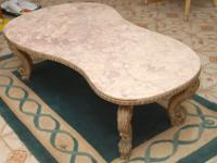 Beautiful Estate 1950's Italian Marble Coffee Table.