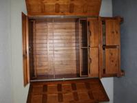 Solid Wood Armoire. Everything wood....no plastic or