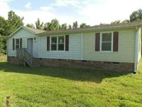 3 bedroom 2 bath doublewide on 2.68 acres.  Tax value