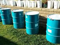 Description Food grade 55 gallon metal barrels.$35 for