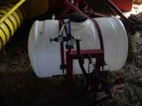 new 55 gal sprayer with 12 ft booms hand gun,3 point