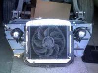 For sale is a alumminum radiator, core support, a/c