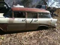 parting out 56 chevy 4 door wagon.... front clip and
