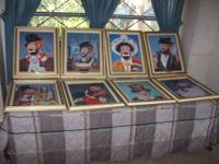 57 Red Skelton canvas paintings all 11 series with