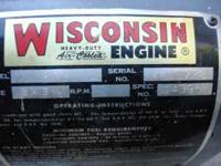 1957 WISCONSIN ENGINE MODEL AENL THAT IS 3 X 3 1/4 9.2