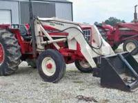 574 IH diesel Tractor with 1550 IH Loader has bucket &