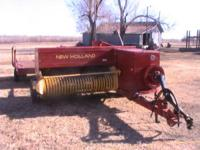 1996 New Holland 575 small square baler and Hoeschler