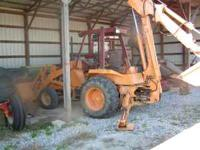 "Nice backhoe, runs as it should. comes with 24"" bucket,"