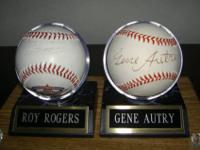 Two autographed baseballs--one is signed by Roy Rogers