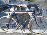 58cm chromoly lugged/butted blue frame, Shimano